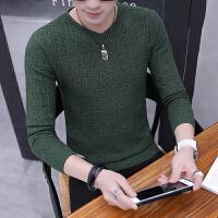 男士毛衣春季韩版潮流V领针织衫2018新款秋装长袖打底衫男上衣服