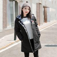 羊羔毛风衣外套女中长款冬季初中学生韩版加绒加厚女2018新款