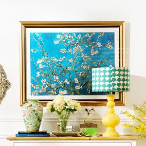 奇居良品 画芯欧美式客厅书房卧室有框画 梵高杏花装饰画