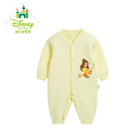 迪士尼Disney婴儿衣服男女宝宝保暖加厚哈衣长袖爬服连体衣154L655