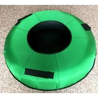 儿童加厚耐磨滑雪片充气内胎滑草车滑雪板滑雪圈 75厘米 荧光绿色中间无垫
