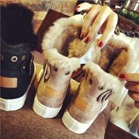 欧洲站新款真皮羊皮毛一体马丁靴保暖雪地靴短靴女靴平底女鞋冬潮