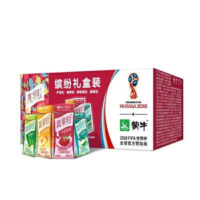 【中粮我买】蒙牛真果粒缤纷礼盒装(草莓桃果芦荟椰果)250g*24/箱