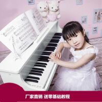 ?韩国进口61键宝宝儿童钢琴初学电钢琴木质早教玩具电子琴