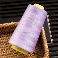 大卷缝纫机线缝衣线缝被套线涤纶针线宝塔线3000码24色402缝纫线 浅紫色3000码 一卷