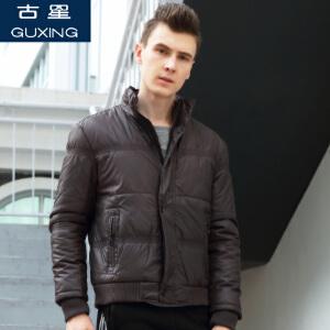 新款古星秋冬男士运动夹克休闲立领开衫宽松大码保暖棉衣长袖外套上衣