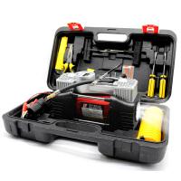 车载充气泵双缸 汽车用轮胎打气泵高压电动12V便携式小轿车加气泵