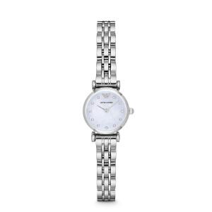 Armani正品阿玛尼小巧防水女石英表钢带小表盘优雅女士腕表AR1961