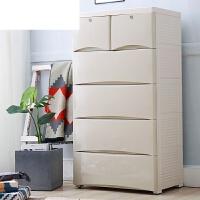 婴儿衣服整理箱多层五斗柜子宝宝衣柜儿童抽屉式收纳柜塑料储物柜