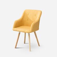 电脑椅子家用现代简约休闲懒人靠背椅创意书房办公座椅宿舍书桌椅 实木脚 固定扶手