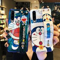 华为p30pro手机壳带腕带蓝光硅胶华为p30情侣可爱卡通huawei p30有趣网红p30pro潮 p30 蓝底大笑