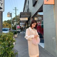 韩都衣舍2019秋季新款女两件套裙子小香风时尚套装裙女OM60641��