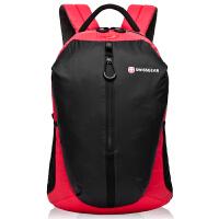 瑞士军刀旅行背包书包男士双肩包14寸电脑包时尚休闲学院风