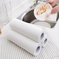 木浆懒人抹布一次性擦桌布刷碗布吸水不沾油厨房家用摸布白洁布洗摸布不掉毛大�{布厨房洗用布厨房�{布
