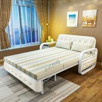 zuczug沙发床可折叠客厅双人小户型单人推拉坐卧两用多功能布艺1.5米 1.5米以下