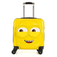 儿童旅行箱小黄人万向轮拉杆箱18寸可爱登机20寸皮箱密码箱行李箱