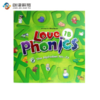 原装进口3-6岁 幼儿英语自然拼读phonics love phoncis 1B 台湾东西图书 零基础英语口音培训