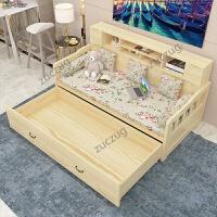 zuczug实木沙发床可折叠 客厅 双人单人书房小户型多功能坐卧两用 1.8米-2米