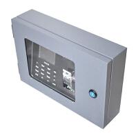 0729044720624指纹考勤机保护盒 户外室外防雨罩 金属专用防水箱外壳