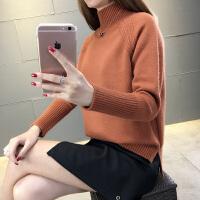 2018春装新款女装半高领毛衣短款宽松套头韩版女士针织打底衫