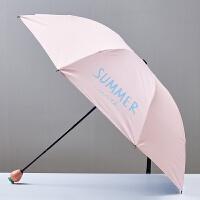 创晴雨伞木柄防晒胶伞遮阳伞阳伞