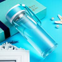 玻璃杯便携单层创意运动随手杯男女简约茶杯