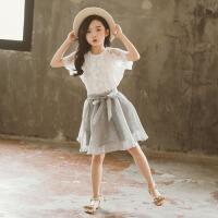 女童夏装套装新款韩版裙子儿童时尚洋气两件套裙子
