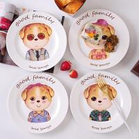 【五折疯抢】白领公社 餐具套装 家用创意可爱卡通动物儿童早餐陶瓷碗盘杯组合套装厨房用品