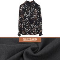 №【2019新款】冬天时尚美女穿的衬衫女长袖复古洋气衬衣碎花打底上衣