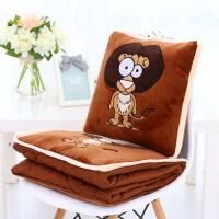 工厂卡通可爱动物空调抱枕被子两用毯子办公室靠垫汽车棉被子 连体抱枕被1*1.5米