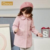 【2件3折券后�A估�r:127】笛莎童�b女童上衣2019冬季新款�和�女����小女孩�貉�饧�色呢大衣