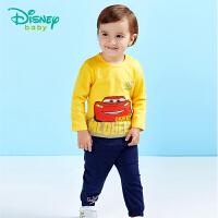 【129元3件】迪士尼Disney 童装男童纯棉休闲套装宝宝衣服春秋新款外出运动服181T741