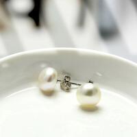 s925银淡水珍珠耳钉女 耳饰饰品 送女友爱人礼物