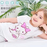 儿童睡衣套装家居服女童夏短袖睡衣棉小女孩宝宝空调服睡裤