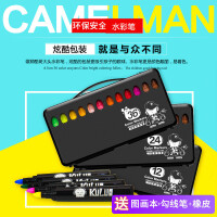 雄狮水彩笔12色24色36色画笔粗头儿童学生美术绘画笔套装礼盒