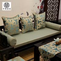 新中式红木沙发坐垫 靠垫抱枕套 圈椅垫 罗汉床垫海绵 实木沙发垫M3SN6391SN5367