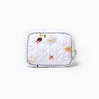 0512044123097卡通海盗沙滩印花卫生棉包 卫生巾包收纳包姨妈巾包 白色
