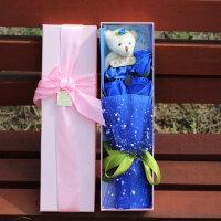 生日礼物玫瑰肥皂花卡通花礼盒女友老师创意礼品香皂花教师节