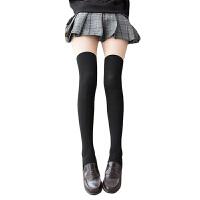 日系秋冬保暖毛圈微压连裤袜加厚拼接袜假大腿假过膝袜打底袜 均码