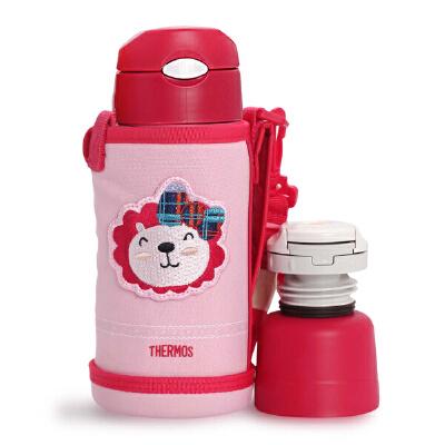 THERMOS膳魔师 儿童吸管杯 婴儿保温杯带吸管 水杯不锈钢宝宝水壶