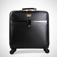 拉杆箱万向轮商务旅行箱登机托运箱子行李箱s6 黑色 18寸