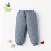 迪士尼Disney冬季婴儿裤子男童加厚保暖长裤174K761