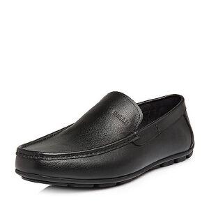 Belle/百丽2018春新品专柜同款摔纹牛皮革男皮鞋39T07AM8