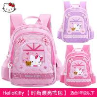 正品HelloKitty卡通KT猫儿童书包幼儿园宝宝学前班女童双肩包减负背包1-2-3-4-5岁大容量休闲包反光安全条