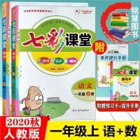 2019秋 七彩课堂一年级语文+数学上册2本套 人教版 全讲互动精练内含预习卡