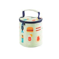 防水饭盒包保温袋手提包圆形保温饭盒袋大号加厚铝箔便当包 汉堡美食