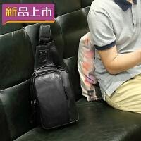 2018男士包包胸包男休闲斜挎包韩版潮流单肩包男皮运动小背包户外腰包