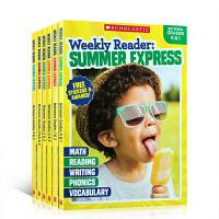 英文原版 学乐暑期练习册 Weekly Reader: Summer Express 1-6册 小学生课外作业家庭教材学习书读物 全彩插图