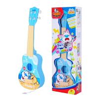 儿童仿真练习弹奏卡通小吉他辛巴狗狗尤克里里乐器男孩女孩小吉他a291 天蓝色
