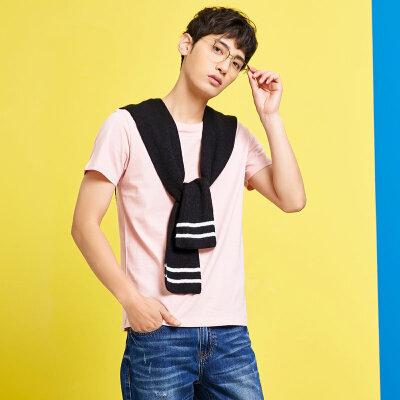美特斯邦威 T恤男夏装新款基础纯色舒适百搭休闲多色短袖T恤